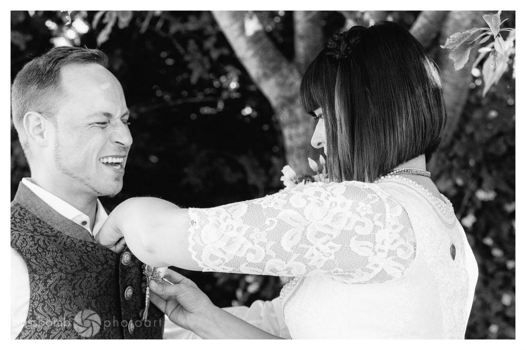 Hochzeit Diana und Stefan Sträußerl piekt